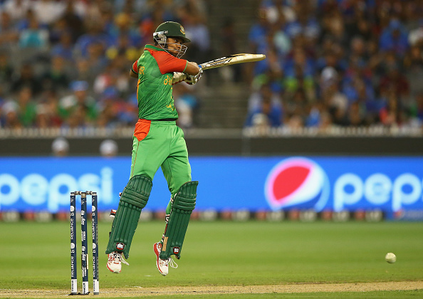 MELBOURNE, AUSTRALIA - MARCH 19: Shabbir Rahman of Bangladesh bats during the 2015 ICC Cricket World Cup match between India and Bangldesh at Melbourne Cricket Ground on March 19, 2015 in Melbourne, Australia.  (Photo by Robert Cianflone/Getty Images)